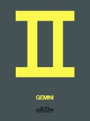 NAXART Studio - Gemini Zodiac Sign Yellow