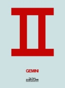 NAXART Studio - Gemini Zodiac Sign Red