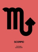 NAXART Studio - Scorpio Zodiac Sign Black