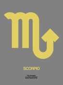 NAXART Studio - Scorpio Zodiac Sign Yellow on Grey