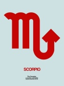 NAXART Studio - Scorpio Zodiac Sign Red