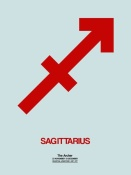 NAXART Studio - Sagittarius Zodiac Sign Red