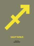 NAXART Studio - Sagittarius Zodiac Sign Yellow