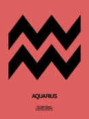 NAXART Studio - Aquarius Zodiac Sign Black