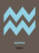 NAXART Studio - Aquarius Zodiac Sign Blue