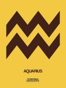 NAXART Studio - Aquarius Zodiac Sign Brown