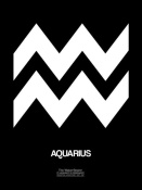 NAXART Studio - Aquarius Zodiac Sign White