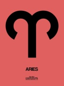 NAXART Studio - Aries Zodiac Sign Black