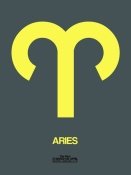 NAXART Studio - Aries Zodiac Sign Yellow