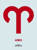 NAXART Studio - Aries Zodiac Sign Red