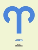 NAXART Studio - Aries Zodiac Sign Blue