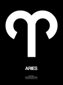 NAXART Studio - Aries Zodiac Sign White