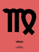 NAXART Studio - Virgo Zodiac Sign Black