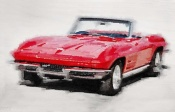 NAXART Studio - 1964 Corvette Stingray Watercolor