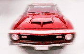 NAXART Studio - 1968 Chevy Camaro Front End Watercolor