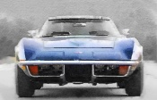 NAXART Studio - 1972 Corvette Front End Watercolor