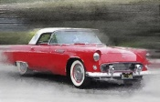 NAXART Studio - 1955 Ford Thunderbird Watercolor