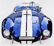 NAXART Studio - 1962 AC Cobra Shelby Watercolor