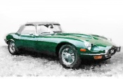 NAXART Studio - 1961 Jaguar E-Type Watercolor
