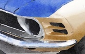 NAXART Studio - Ford Mustang Front Detail Watercolor