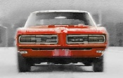 NAXART Studio - 1968 Pontiac GTO Front Watercolor