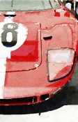 NAXART Studio - 1964 Ford GT40 Front Detail Watercolor