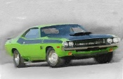 NAXART Studio - 1970-TA-Challenger Watercolor