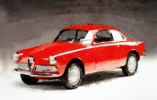 NAXART Studio - 1958 Alfa Romeo Giulietta Sprint Watercolor