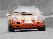 NAXART Studio - Porsche 911 Race Track Watercolor