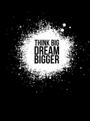 NAXART Studio - Dream Bigger Poster Black