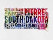 NAXART Studio - South Dakota Watercolor Word Cloud
