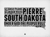 NAXART Studio - South Dakota Word Cloud 1