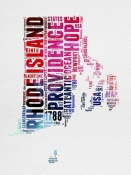 NAXART Studio - Rhode Island Watercolor Word Cloud