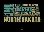 NAXART Studio - North Dakota Word Cloud 1