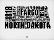 NAXART Studio - North Dakota Word Cloud 2