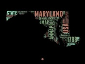 NAXART Studio - Maryland Word Cloud 1