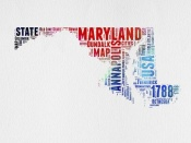 NAXART Studio - Maryland Watercolor Word Cloud