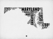 NAXART Studio - Maryland Word Cloud 2