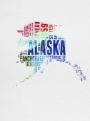 NAXART Studio - Alaska Watercolor Word Cloud