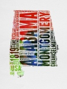 NAXART Studio - Alabama Watercolor Word Cloud