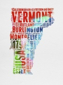 NAXART Studio - Vermont Watercolor Word Cloud