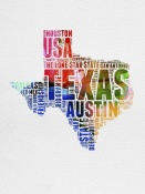 NAXART Studio - Texas Watercolor Word Cloud