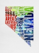 NAXART Studio - Nevada Watercolor Word Cloud