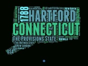 NAXART Studio - Connecticut Word Cloud 1