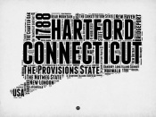 NAXART Studio - Connecticut Word Cloud 2