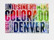 NAXART Studio - Denver Watercolor Word Cloud