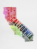 NAXART Studio - California Watercolor Word Cloud