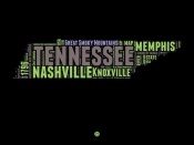NAXART Studio - Tennessee Word Cloud 1