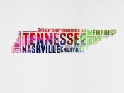 NAXART Studio - Tennessee Watercolor Word Cloud