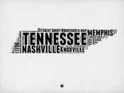 NAXART Studio - Tennessee Word Cloud 2